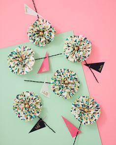 Paper Napkin Flower DIY by ThussFarrell for Oh Joy