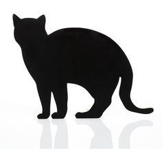 157+173 designers 2d Mdf Doorstop Cat - white walking (£66) ❤ liked on Polyvore featuring home, home decor, black, white wedges, black figure, white home decor, black wedges and black cat home decor