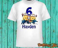 Hey, I found this really awesome Etsy listing at https://www.etsy.com/listing/242494470/minion-birthday-shirt-minion-shirt