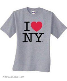 I Love NY T-Shirts in Grey http://iheartnyshirt.com/