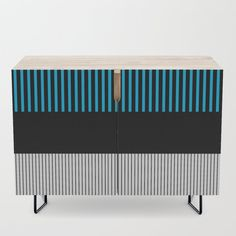 Colour Pop Stripes - Turquoise Credenza by laec Colour Pop, Color, Office Cabinets, Walnut Finish, Credenza, Cleaning Wipes, Stripes, Turquoise, Storage