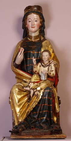 Santa María de Vitoria / Virgen de la Esclavitud Hacia 1278-1280. Madera tallada y policromada. Depósito de la Catedral de Santa María de Vitoria-Gasteiz
