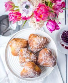 Berliner Pfannkuchen in Herzform ohne Frittieren