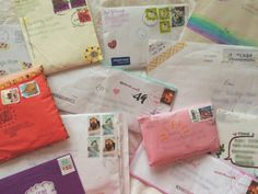I always wanted a pen pal! Pen Pal Letters, Cute Letters, Snail Mail Pen Pals, You've Got Mail, Handwritten Letters, Happy Mail, Pen And Paper, Letter Writing, Mail Art
