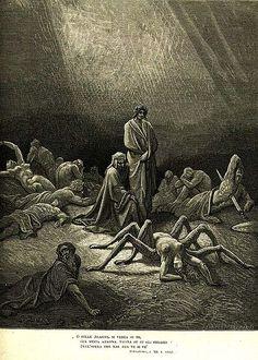 Image of Arachne from Dante's Divine Comedy