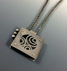 Sterling Silver Concentric Circles Modern by AmorphicMetals