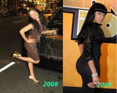 Nicki Minaj Booty Before and After