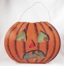 Vintage Halloween Pumpkin Lantern Decoration Dolly Toy Co Small Tears Halloween Lanterns, Vintage Halloween Decorations, Halloween Toys, Halloween Pumpkins, Crepe Paper Decorations, Lanterns Decor, Favorite Holiday, Pumpkin Carving, 1940s