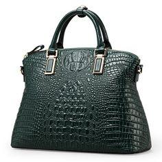 Qi Wang crocodile pattern leather handbag large bag handbag 2016 new  middle-aged women s singles 1f990e6ff6d2d