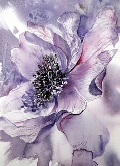 Ode an die Anemone Anemone / Aquarell The post Ode an die Anemone appeared first on Blumen ideen. Silk Painting, Watercolour Painting, Watercolor Flowers, Painting & Drawing, Watercolors, Purple Painting, Art Floral, Art Aquarelle, Alcohol Ink Art