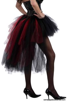 Adult Vampiress Burlesque Tutu - Candy Apple Costumes