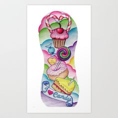 Candy Tattoo Sleeve Art