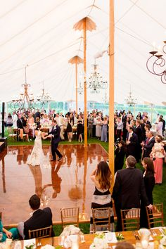 What an amazing tent for a wedding reception! garden wedding at Inn at Windmill Lane, Amagansett, New York, with photos by Jonathan Young Weddings | via junebugweddings.com