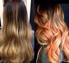 A little peach never hurt no one! Awesome hair by house of cabelo. #balayage…
