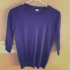 Thin sweater Purple thin sweater J. Crew Sweaters Cardigans