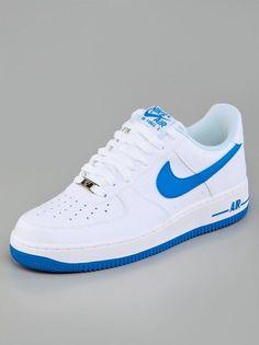511877190177 Nike Air Force 1 White Photo Blue Herrenschuhe, Sneaker Damen, Laufschuhe,  Turnschuhe,