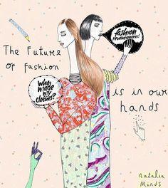 """Modanın geleceği bizim ellerimizde"" Natalia Minds'ın Fashion Revolution için yaptığı bu ilüstrasyona bayıldık!  @Regrann from @fash_rev -  Thank you @fashrevcolombia and artist Natalia Minds for this lovely illustration #whomademyclothes #imadeyourclothes #fashrev #Regrann"