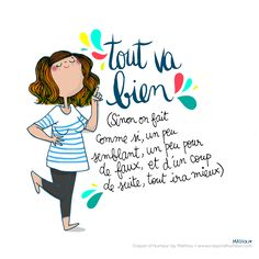New Quotes Funny Positive Optimism Ideas New Quotes, Words Quotes, Funny Quotes, Funny Illustration, Illustrations, Chillout Zone, Image Club, French Quotes, Positive Attitude