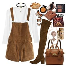 """Yoins: my love for overalls continues"" by styling-w-mabel ❤ liked on Polyvore featuring Gianvito Rossi, Gucci, Mulberry, Martha Stewart, TokyoMilk, La Maison Du Chocolat and NARS Cosmetics"