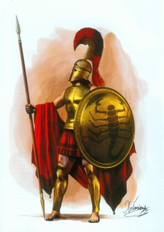 Lacedaemonian Hoplite by C. Giannopoulos