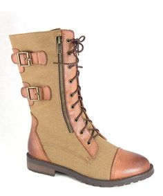 Love this Tan Riskey Buckle Boot on #zulily! #zulilyfinds