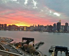 View from Long Island City tonight from agent Larry Dusseau: