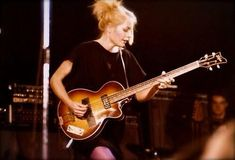 Talking Heads bass player Tina Weymouth.