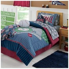 Sports Star Bedding For Boys Twin Full Queen Quilt Set Blue Bedspread