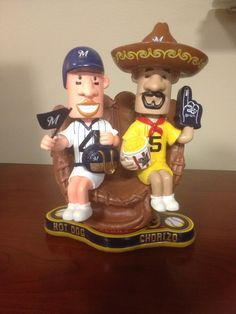 The new August Bobbles of the Month are in at the #Brewers Team Store at Miller Park. Follow us on Twitter for your chance to win one! #BrewersTeamStore #RacingSausages #Bobblehead