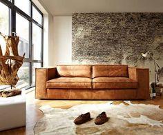 Bank rodeo zits cognac bruin leer cm the home design