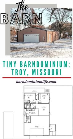 This Missouri barndominium is one for those interested in fewer square feet and abundant garage space. Sydni Blyss Ledesma, took an existing garage space and transformed it into 750 square feet of gorgeous and efficient living space and 750 square feet of garage space. Every inch of this space is used in the most creative way and designed to perfection. You will love the wood stained door and trim for contrast against the white and grey tones throughout the rest of the home. barndominiumlife.com Custom Pantry, Barndominium Floor Plans, Home Still, Square Feet, Missouri, Living Spaces, House Design, Contrast, Garage