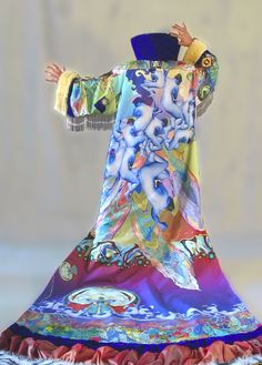 ARTIST JUNO WEARABLE ART JACKET. ONE OF A KIND. DYED SILK AND MULTI-MEDIUM. Pinned by www.LKnits.com