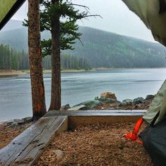 viewfromthetent:  Not a bad view from our tent, even when it's raining. #Camp by Teryn  Kate on Flickr.