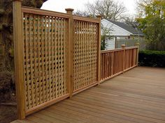 Privacy Fence cross-hatch. Dont like the column caps, but with more modern finish could be nice and afford some view.