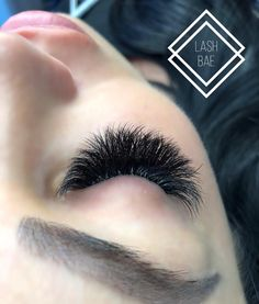 This set was done with Bae Adhesive. Dry time is second 💨! It's perfect for week… Whispy Lashes, Long Lashes, False Eyelashes, Eyelash Extensions Salons, Volume Lash Extensions, Eyelash Technician, Beauty Makeup, Hair Makeup, Individual Eyelashes