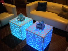 Lounge Appeal light up tables
