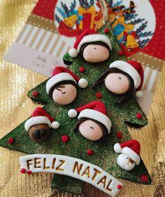 Polymer Clay Ornaments, Polymer Clay Crafts, Kawaii Diy, Xmas Wishes, Polymer Clay Christmas, Xmas Tree Decorations, Christmas Crafts, Christmas Ornaments, Cold Porcelain