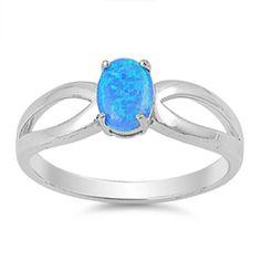 Blue Lab Opal Fish Animal Cute Midi Ring .925 Sterling Silver Band Sizes 4-10