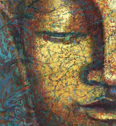 """May I awaken to the light of my own nature. May I be healed. May I be a source of healing for all beings. Image: ""Prana"", Buddha painting by Virginia Peck. Buddha Face, Buddha Zen, Chinese Buddhism, Buddhist Art, Buddhist Prayer, Buda Painting, Art Zen, Buddha Artwork, Spirituality"