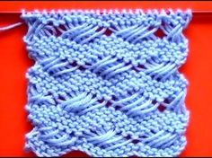 Cómo Tejer Punto Cruzado-Indian Cross Stitch 2 Agujas This one is knitting. Knitting Stiches, Knitting Videos, Crochet Videos, Lace Knitting, Crochet Stitches, Tunisian Crochet, Knit Or Crochet, Knitting Patterns, Crochet Patterns