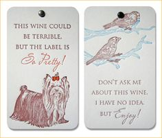 Popptags: Wit + Wine + Design