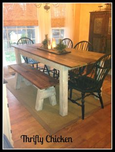 DIY Kitchen Table Wood Bench