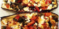 Aubergine uit de oven met knoflook en feta