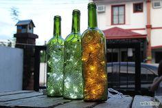 Wine-Bottle Accent Lights