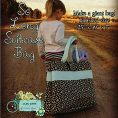 So Long Suitcase Bag | Sewing Patterns | FREE | YouCanMakeThis.com