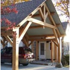 Carport. Would make a nice covered patio.many more are available http://www.vickswoodworkingplans.com/
