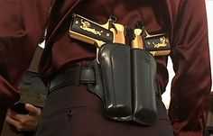 Castor Troy Guns-Face/Off Airsoft 1911 Holster, 1911 Pistol, Gun Holster, Leather Holster, Springfield Armory, Face Off, Cool Guns, Kydex, Guns And Ammo