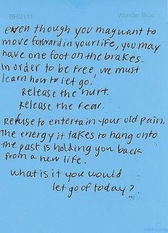 move forward and let go
