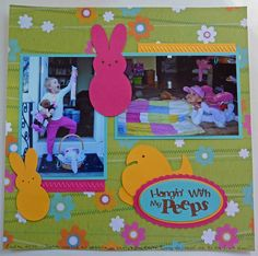 Easter layout using files from Pretty Papers, Pretty Ribbons made by Cool Beans by L.B.
