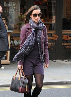 Pippa Middleton - Pippa Middleton Steps Out in Purple in London